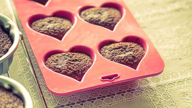 Кексы с формой сердца Бесплатные Фотографии