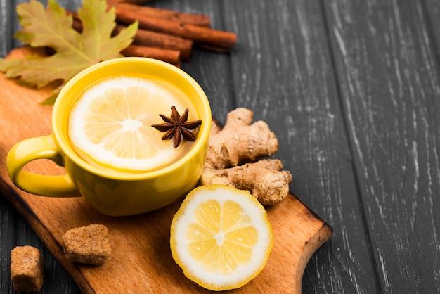 Чашки с ароматом фруктов крупным планом Бесплатные Фотографии