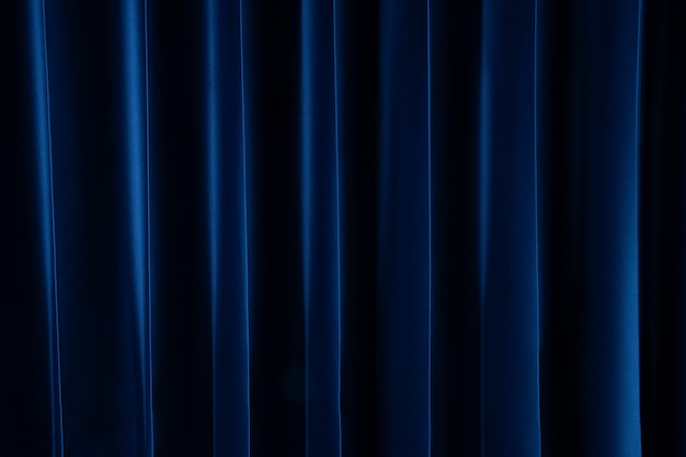 Curtain dark blue Premium Photo