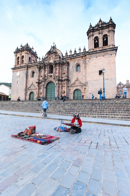 Cusco peru building was completed in 1654, almost a hundred years after construction began. Premium Photo