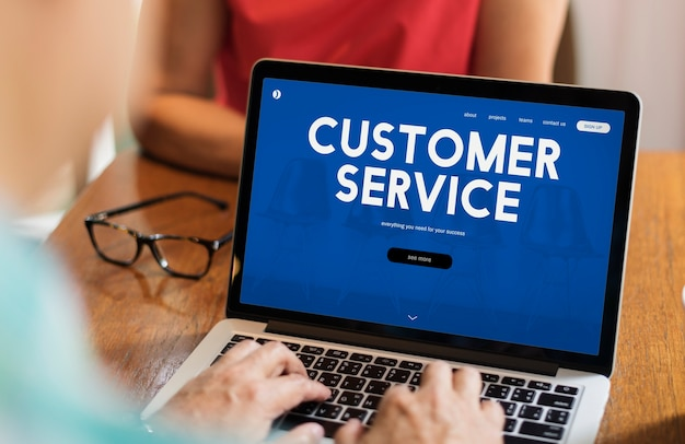 Customer care webpage interface word Free Photo