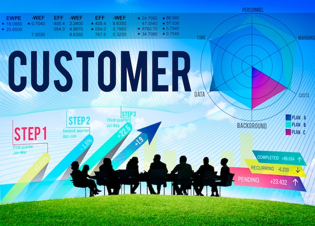 Customer loyalty service efficiency strategy concept Free Photo