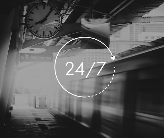 Customer service 24 hours 7 days support Premium Photo