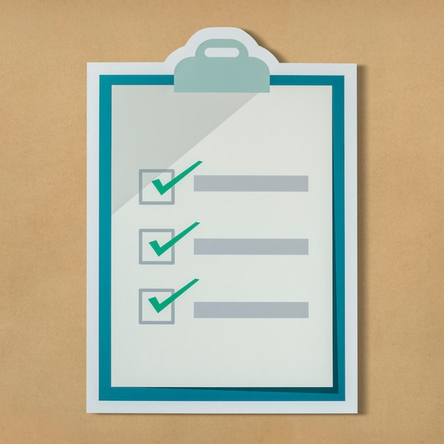 Cut out paper checklist icon Free Photo