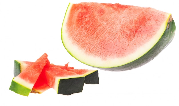 Cut watermelon and some small pieces Free Photo