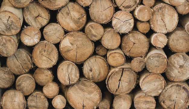 Вырезать деревянный бревенчатый узор фона на сырой материальной промышленности Premium Фотографии