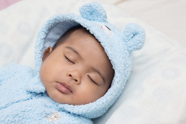 Cute asian baby sleeping Premium Photo
