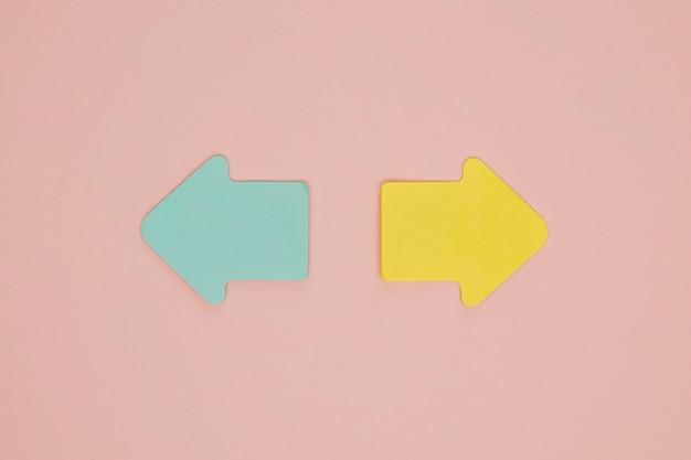 Симпатичные синие и желтые стрелки Бесплатные Фотографии