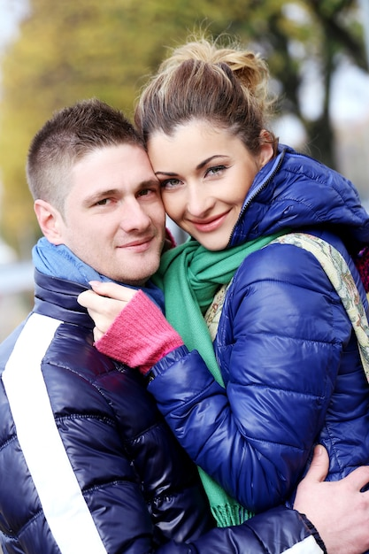 Cute couple having a good time outside Free Photo