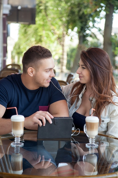 Cute couple looking at each other Free Photo