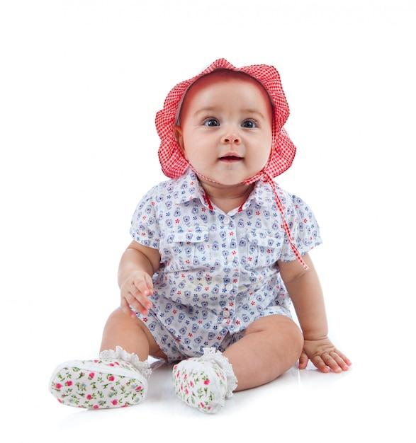 Cute female toddler Premium Photo