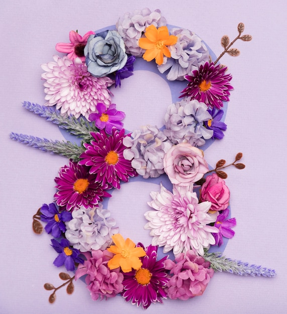 Cute floral arrangement for women's day Free Photo