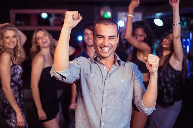 Cute friends having fun and dancing Premium Photo