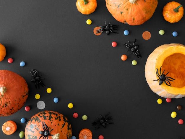 Симпатичная концепция хэллоуина с копией пространства Premium Фотографии