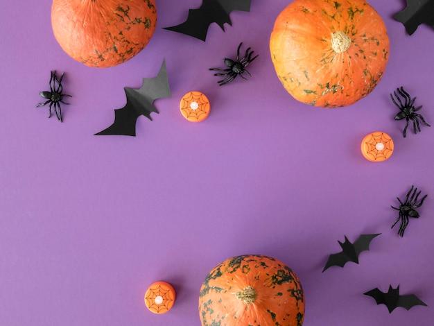 Симпатичная концепция хэллоуина с копией пространства Бесплатные Фотографии