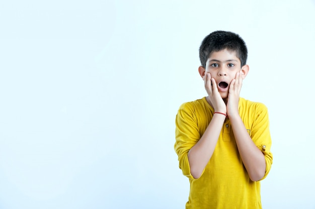 Cute indian child wow expression Premium Photo