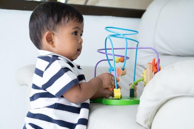 Cute little asian baby Premium Photo