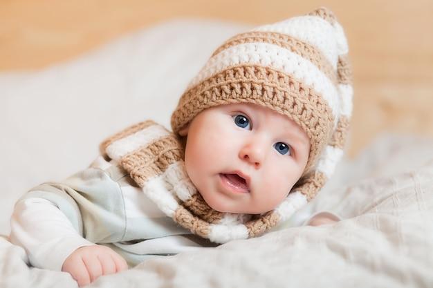 Cute little baby. Premium Photo