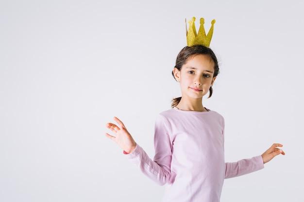 Cute little princess Free Photo