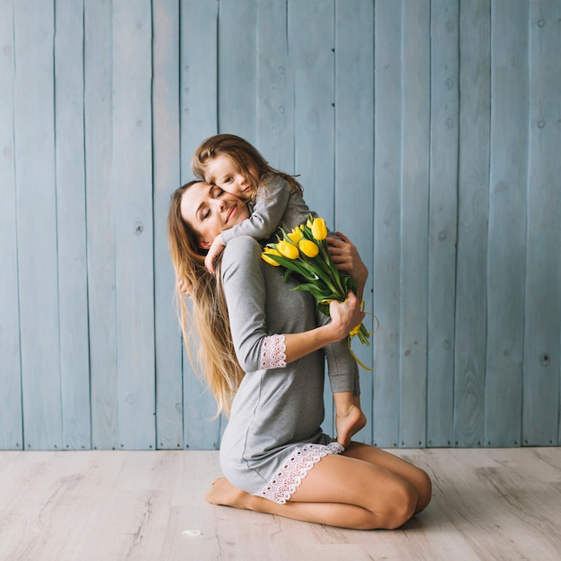 Cute mother and daughter celebrating mothers day 23 2147776592