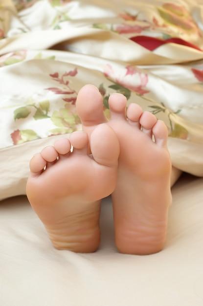 Cute seeping feet Premium Photo