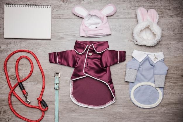 Cute set of dog pajamas and accessory Free Photo