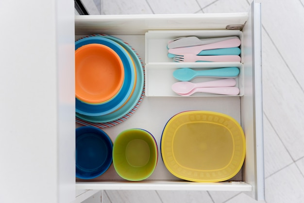 Cutlery in a drawer Free Photo
