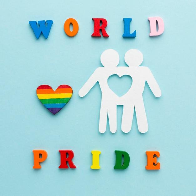 Cutout paper couple people world pride Free Photo