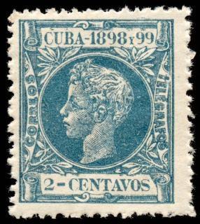 Cyan king alfonso xiii stamp Free Photo