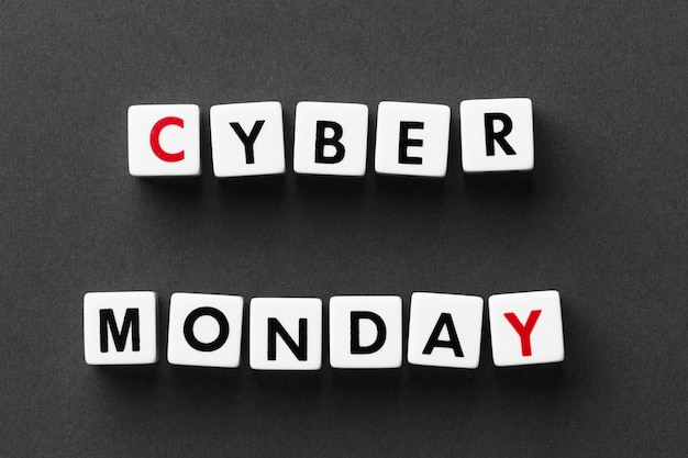 Cyber monday written with scrabble letters Free Photo