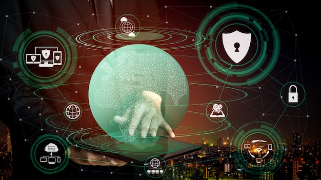 Cyber security and digital data protection concept Premium Photo