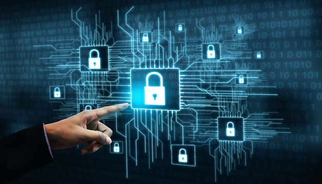 Cyber security and digital data protection Premium Photo