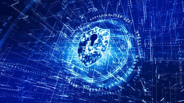 Фон сетей кибербезопасности Premium Фотографии