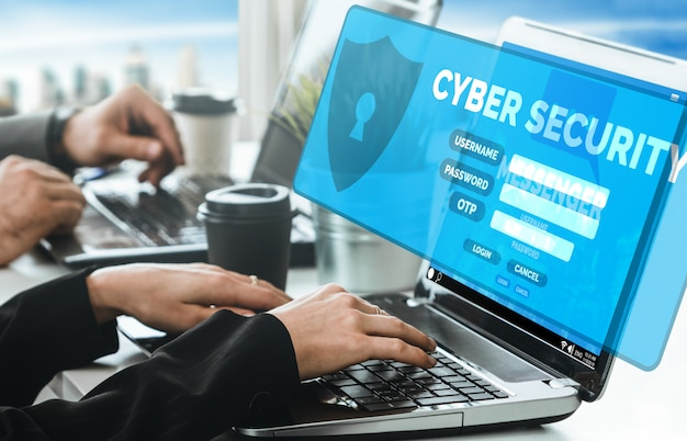 Cybersecurity and digital data protection Premium Photo