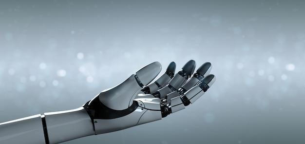 Cyborg robot hand - 3d rendering Premium Photo