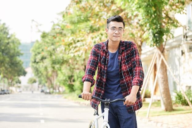 Cycling man Free Photo