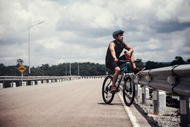 Cyclist the bike Free Photo