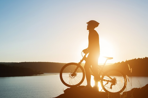 Cyclist lifestyle teen fitness young Free Photo