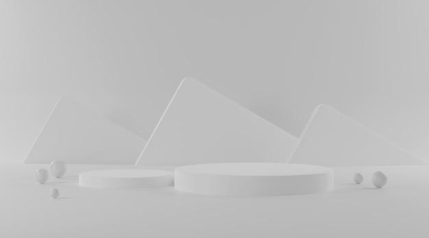 Cylinder podium on white background. Premium Photo