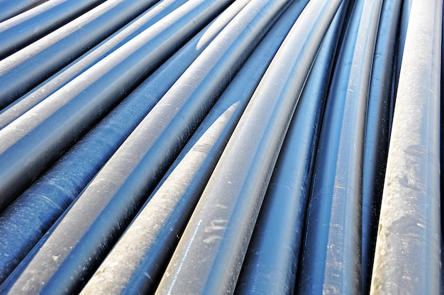 Cylindrical steel pipe Premium Photo