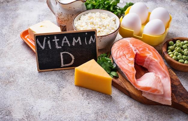 ビタミンdを含む健康食品 Premium写真