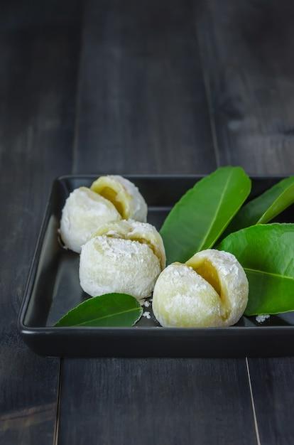 Daifuku mochi japanese dessert Premium Photo
