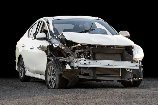Поврежденная автокатастрофа Premium Фотографии