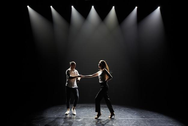 Dancing, couple, salsa dancing. Premium Photo