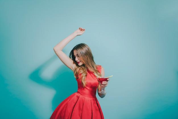 Dancing girl at party Free Photo
