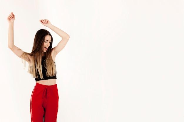 Dancing at gym Free Photo