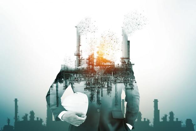 Опасность загрязнения воздуха от обычной энергии. Premium Фотографии