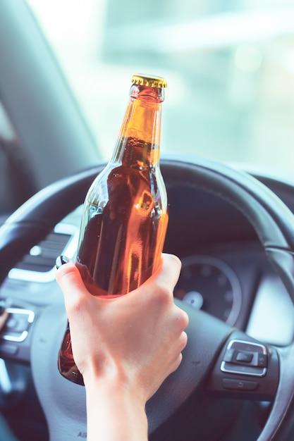 Dangerous female driver Premium Photo