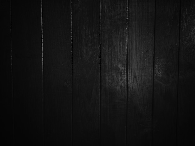 Dark black wooden texture background. Premium Photo