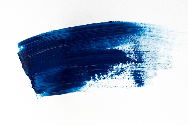 Темно-синий мазок кисти на белом фоне Бесплатные Фотографии
